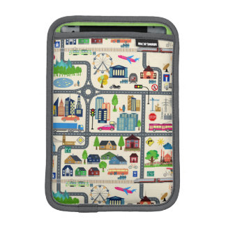 City Map Pattern Sleeve For iPad Mini
