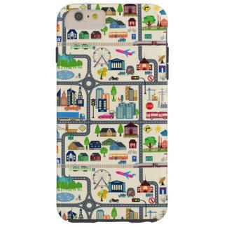 City Map Pattern Tough iPhone 6 Plus Case