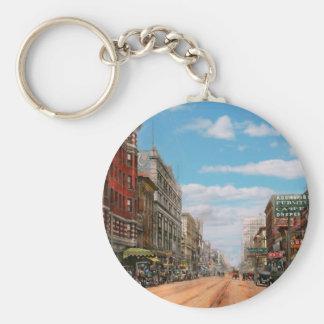 City - Memphis TN - Main Street Mall 1909 Basic Round Button Keychain