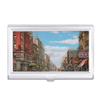 City - Memphis TN - Main Street Mall 1909 Business Card Case