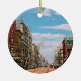 City - Memphis TN - Main Street Mall 1909 Ceramic Ornament