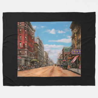 City - Memphis TN - Main Street Mall 1909 Fleece Blanket