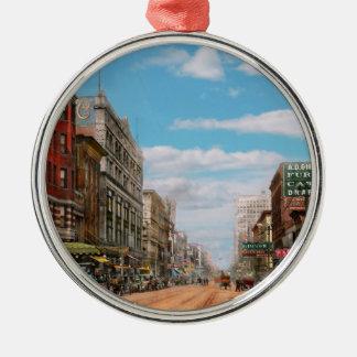 City - Memphis TN - Main Street Mall 1909 Metal Ornament