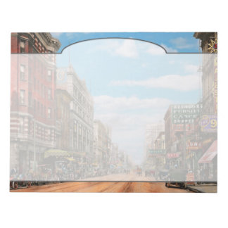 City - Memphis TN - Main Street Mall 1909 Notepad