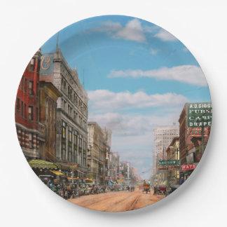 City - Memphis TN - Main Street Mall 1909 Paper Plate