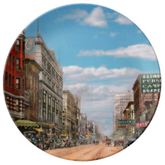 City - Memphis TN - Main Street Mall 1909 Plate