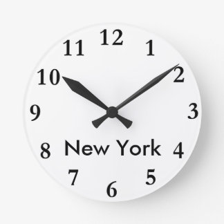 City Name Clock Template