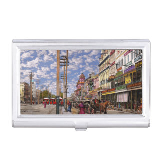 City - New Orleans the Victorian era 1887 Business Card Holder