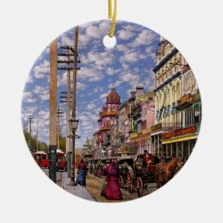 City - New Orleans the Victorian era 1887 Ceramic Ornament