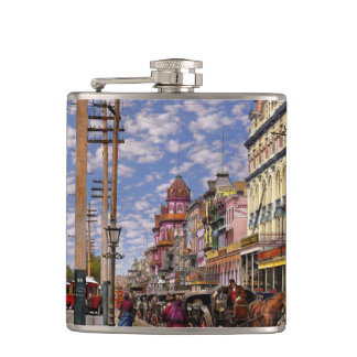 City - New Orleans the Victorian era 1887 Hip Flask