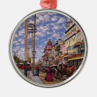 City - New Orleans the Victorian era 1887 Metal Ornament