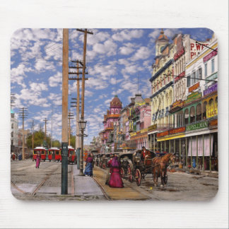 City - New Orleans the Victorian era 1887 Mouse Pad
