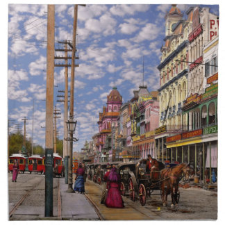 City - New Orleans the Victorian era 1887 Napkin