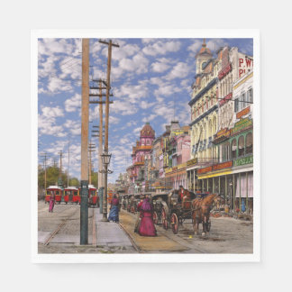 City - New Orleans the Victorian era 1887 Paper Napkins