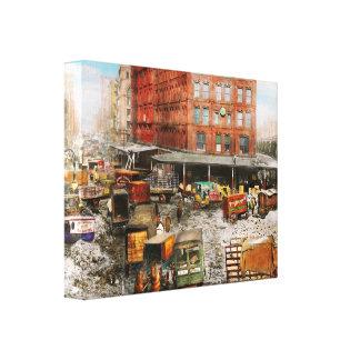 City - New York NY - Stuck in a rut 1920 Canvas Print