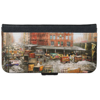 City - New York NY - Stuck in a rut 1920 iPhone 6 Wallet Case