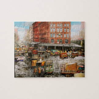 City - New York NY - Stuck in a rut 1920 Jigsaw Puzzle