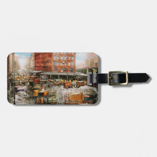 City - New York NY - Stuck in a rut 1920 Luggage Tag