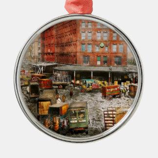 City - New York NY - Stuck in a rut 1920 Metal Ornament
