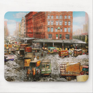 City - New York NY - Stuck in a rut 1920 Mouse Pad