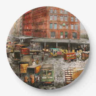 City - New York NY - Stuck in a rut 1920 Paper Plate