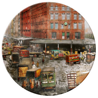 City - New York NY - Stuck in a rut 1920 Plate