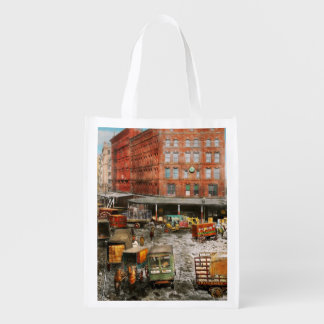 City - New York NY - Stuck in a rut 1920 Reusable Grocery Bag