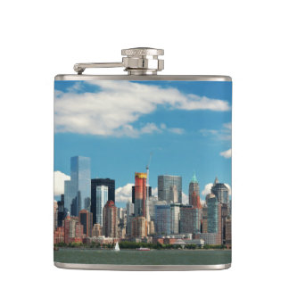 City - New York NY - The New York skyline Hip Flask