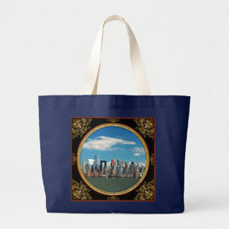 City - New York NY - The New York skyline Large Tote Bag