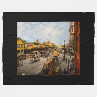 City - NY - A hundred some years ago 1900 Fleece Blanket