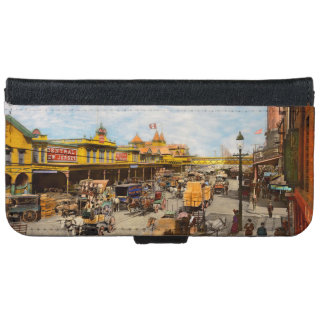 City - NY - A hundred some years ago 1900 iPhone 6 Wallet Case