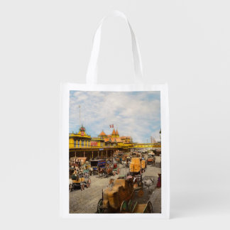 City - NY - A hundred some years ago 1900 Reusable Grocery Bag
