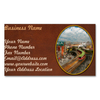 City - NY - Chatham Square 1900 Magnetic Business Card