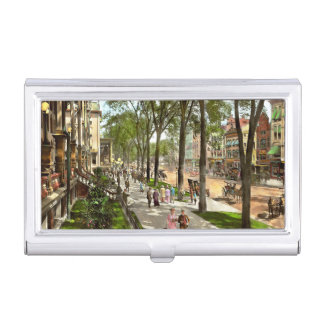 City - NY -  I would love to be on Broadway 1915 Business Card Holder