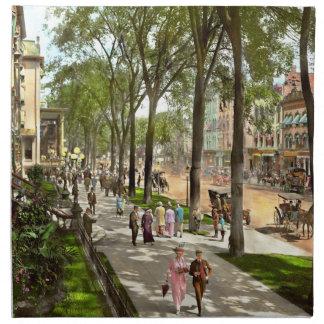 City - NY -  I would love to be on Broadway 1915 Napkin