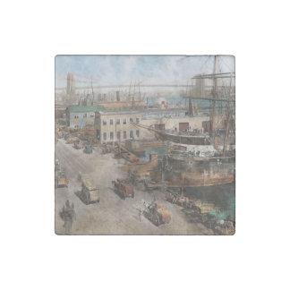 City - NY - South Street Seaport - 1901 Stone Magnets