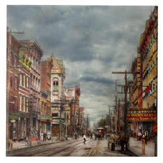 City - NY - The ever changing market place 1906 Ceramic Tiles