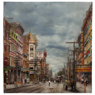 City - NY - The ever changing market place 1906 Napkin