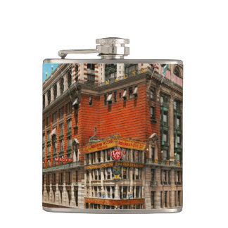 City - NY - The nation's largest dept store 1908 Hip Flask