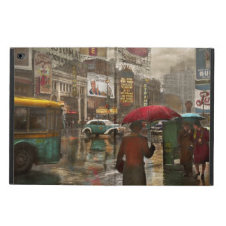 City - NY - Times Square on a rainy day 1943 Powis iPad Air 2 Case