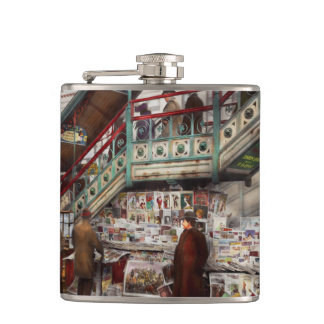 City - NY - Want a paper mister 1903 Hip Flask
