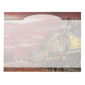 City - NZ - The shopping district 1908 Notepad