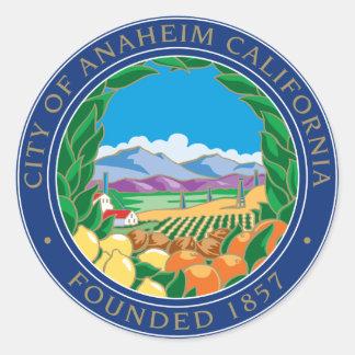 City of Anaheim Logo Classic Round Sticker