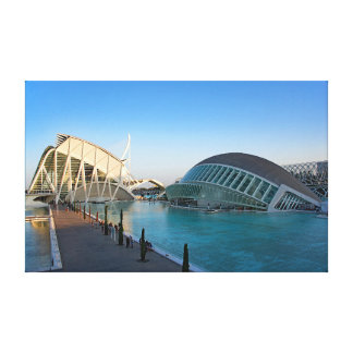 City of Arts and Sciences. Canvas Print