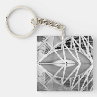 City of Arts and Sciences Single-Sided Square Acrylic Keychain