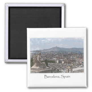 City of Barcelona Spain Cityscape Magnet