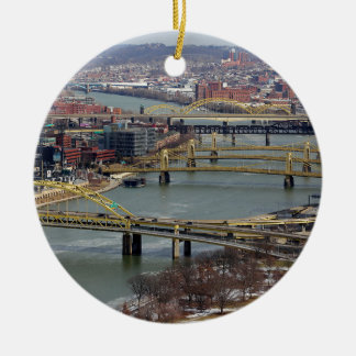 City of Bridges Ceramic Ornament