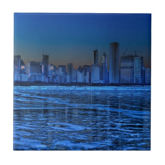 City of broad shoulders and lake Michigan Ceramic Tiles
