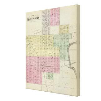 City of Burlington, Coffee County, Kansas Canvas Prints