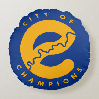 City of Champions Cotton Throw Pillow